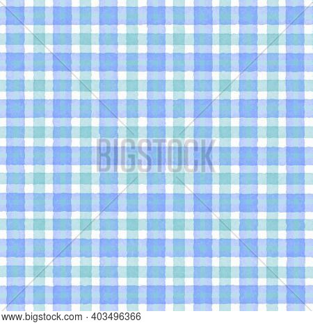 Blue Purple Green Turquoise Vintage Checkered Background With Blur, Gradient And Grunge Texture. Cla