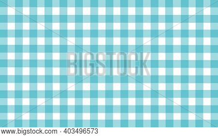 Light Blue White Turquoise Vintage Checkered Background. Space For Graphic Design. Checkered Texture