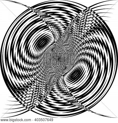 Intersected Trajectory Owl Sphere Illusion Abstract Background Black On Transparent