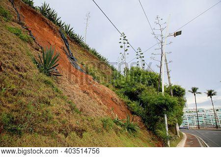 Slide In A Landslide Site