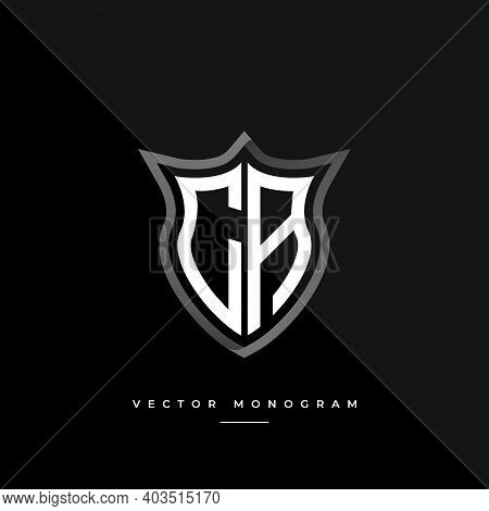 Trendy Ca Monogram On The Shield Isolated On Dark Background. Silver Flat C And A Initial Logo Busin
