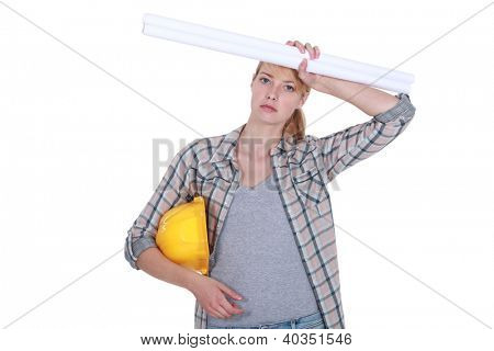 Overworked tradeswoman