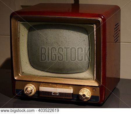 Old Cathode-ray Tube Tv Which Is Not Usable