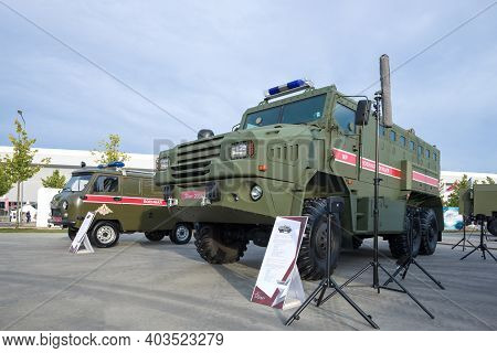 Moscow Region, Russia - August 25, 2020: Military Police Vehicle