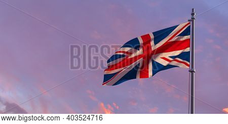 3d Rendering Of The National Flag Of The British