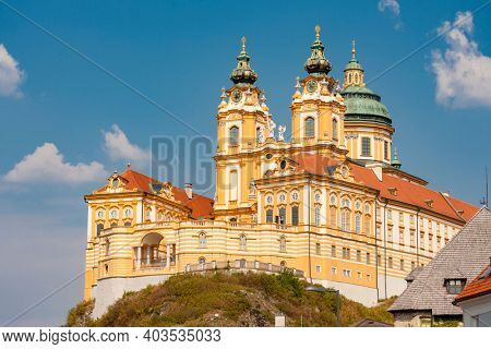 View of the historic Melk Abbey (Stift Melk), Austria