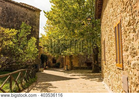 An Historic Building In The Medieval Village Of San Lorenzo A Merse Near Monticiano In Siena Provinc