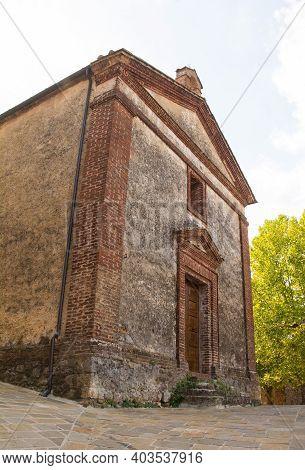 The Historic 16th Century Chiesa Della Compagnia Della Misericordia Village Church In San Lorenzo A