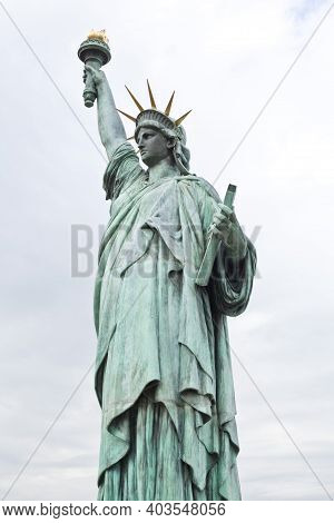 Small-scale Copy Of The Statue Of Liberty Erected In 1998 As A Tribute To Japan\'s Relationship With