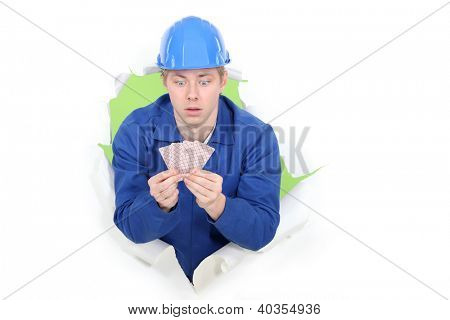 Builder amazed by the card he's been dealt poster