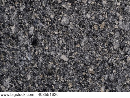 Natural Stone. Grey Granite Texture, Granite Surface And Background. Material For Decoration Texture