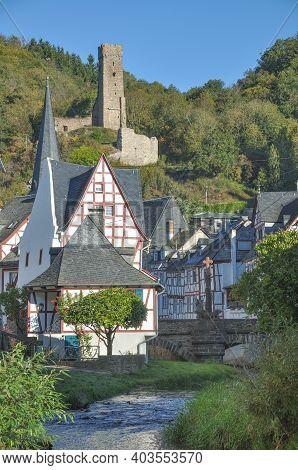 Idyllic Medieval Village Of Monreal In The Eifel,germany