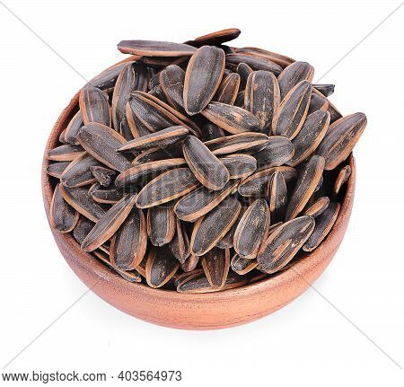 Sun Flower Seed On A White Background