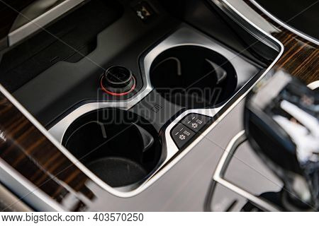 Cup Holder In A New Modern Car
