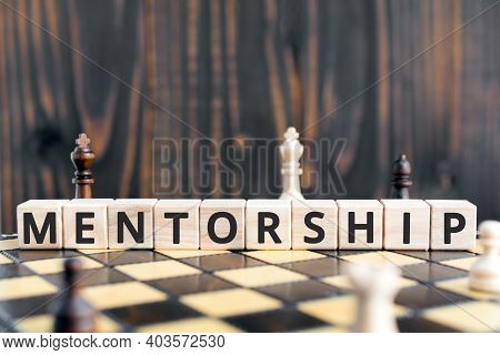 Mentorship - Word From Wooden Blocks With Letters, Mentoring  Mentorship Concept, Random Letters Aro