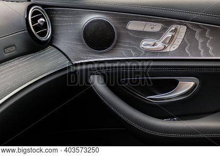 Door In Interior Of A Luxurious Car