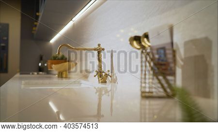 Kitchen Faucet Polished Chrome And Sink Polished Chrome. Object About Home Improvement. Modern Kitch