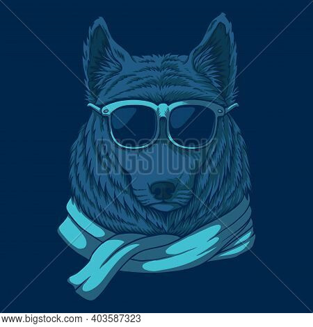 Wolf Eyeglasses Vector Illustration For Your Company Or Brand