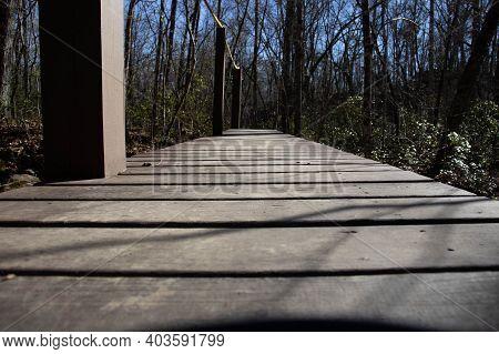 Hiking On Seven Bridges Trail In Winter In Fairfield Glade Tn