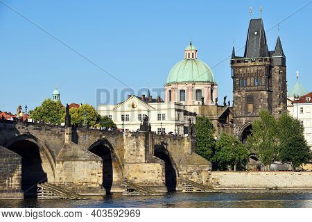 Prague - August 07, 2016: Old Town Architecture On August 07, 2016 In Prague, Czech Republic. Prague