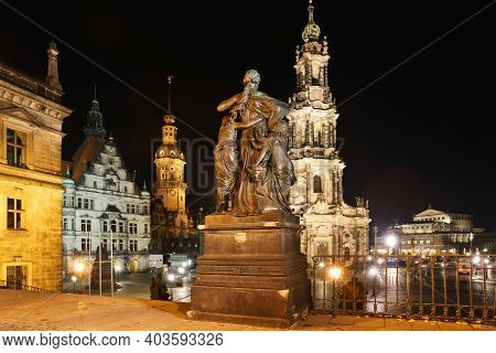 Dresden, Germany - October 26: The Old Town Of Dresden On October 26, 2015 In Dresden, Germany. Dres