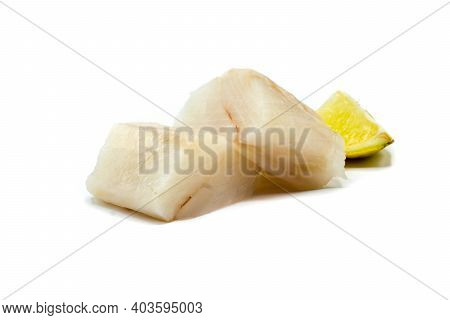 Cod Fillet Fish Isolated On White Background