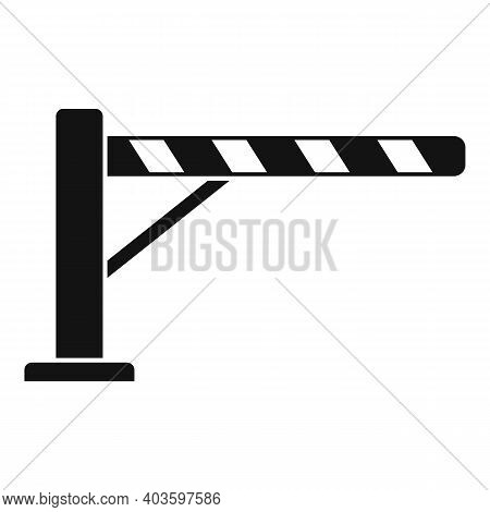 Guard Barrier Icon. Simple Illustration Of Guard Barrier Vector Icon For Web Design Isolated On Whit