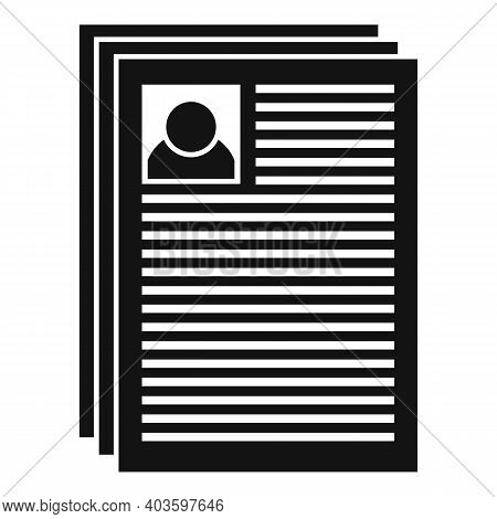 Personal Guard Papers Icon. Simple Illustration Of Personal Guard Papers Vector Icon For Web Design