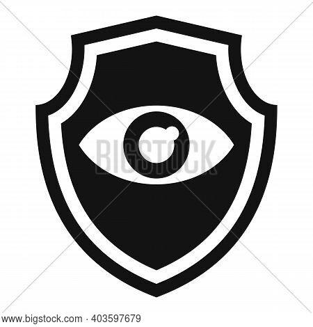 Personal Guard Eye Shield Icon. Simple Illustration Of Personal Guard Eye Shield Vector Icon For Web