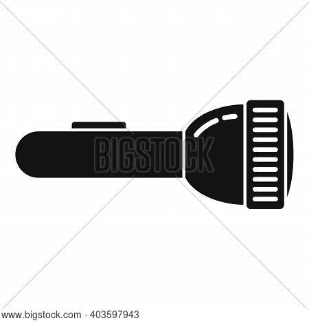 Guard Flashlight Icon. Simple Illustration Of Guard Flashlight Vector Icon For Web Design Isolated O
