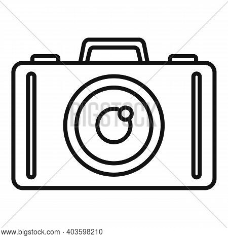 Guard Camera Icon. Outline Guard Camera Vector Icon For Web Design Isolated On White Background