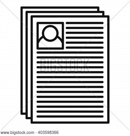 Personal Guard Papers Icon. Outline Personal Guard Papers Vector Icon For Web Design Isolated On Whi