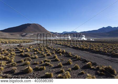 Landscape At El Tatio, Geyser View, Chile