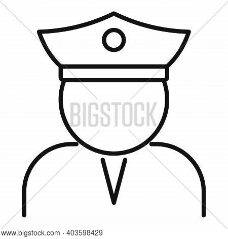 Guard Man Icon. Outline Guard Man Vector Icon For Web Design Isolated On White Background