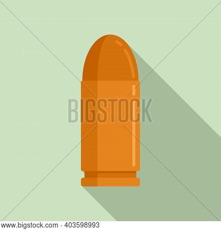 Pistol Bullet Icon. Flat Illustration Of Pistol Bullet Vector Icon For Web Design