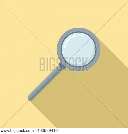 Policeman Magnifier Icon. Flat Illustration Of Policeman Magnifier Vector Icon For Web Design