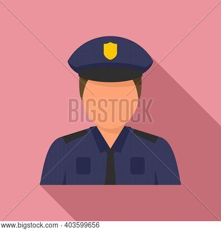 Policeman Cop Icon. Flat Illustration Of Policeman Cop Vector Icon For Web Design