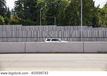 Protection Of Residents Against Noise Generated By Car Traffic And Separation Of Lanes. Concrete Aco