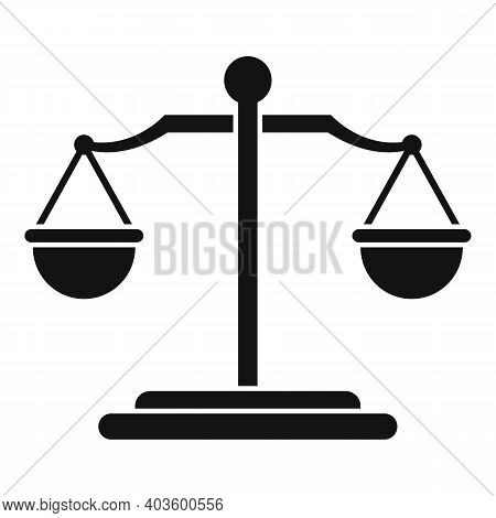 Judge Balance Icon. Simple Illustration Of Judge Balance Vector Icon For Web Design Isolated On Whit