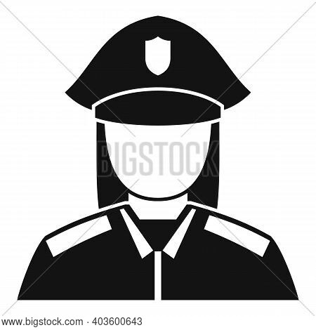 Woman Policeman Icon. Simple Illustration Of Woman Policeman Vector Icon For Web Design Isolated On