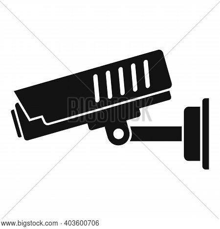 Policeman Outdoor Camera Icon. Simple Illustration Of Policeman Outdoor Camera Vector Icon For Web D