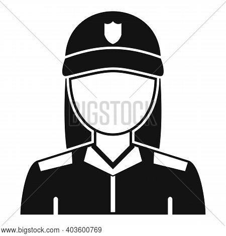 Blondie Policeman Icon. Simple Illustration Of Blondie Policeman Vector Icon For Web Design Isolated