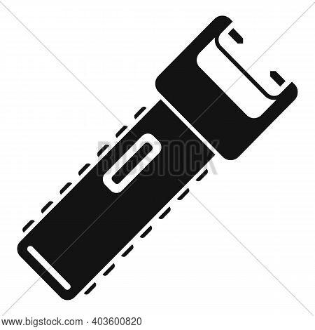 Policeman Electroshocker Icon. Simple Illustration Of Policeman Electroshocker Vector Icon For Web D