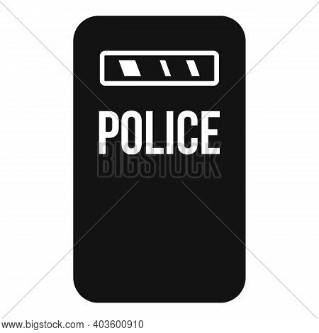 Policeman Shield Icon. Simple Illustration Of Policeman Shield Vector Icon For Web Design Isolated O