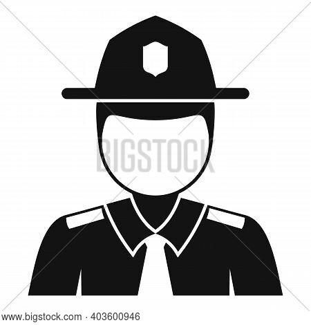 Policeman Village Icon. Simple Illustration Of Policeman Village Vector Icon For Web Design Isolated