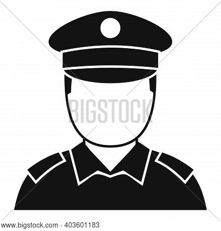 Policeman Cop Icon. Simple Illustration Of Policeman Cop Vector Icon For Web Design Isolated On Whit