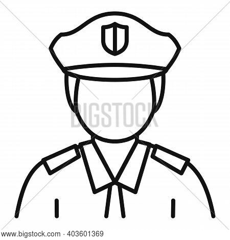 City Policeman Icon. Outline City Policeman Vector Icon For Web Design Isolated On White Background