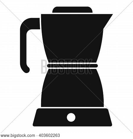 Coffee Kettle Icon. Simple Illustration Of Coffee Kettle Vector Icon For Web Design Isolated On Whit