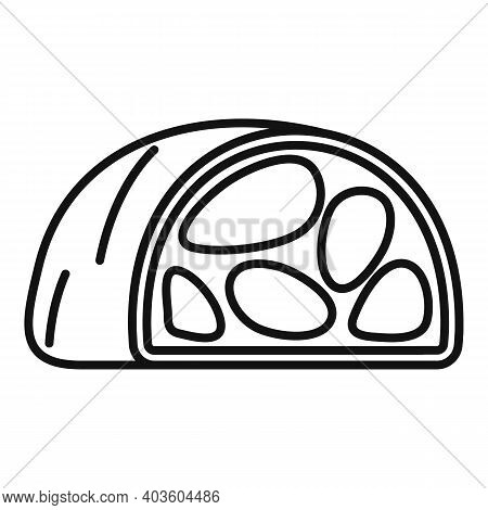 Bacon Meat Icon. Outline Bacon Meat Vector Icon For Web Design Isolated On White Background