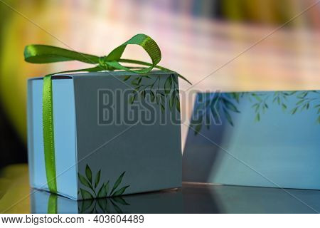 Gift Box For Wedding Guests. Paper Gift Box. Individual Gift Box For Wedding Guests